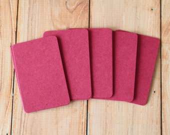 50pc RASPBERRY Dark Pink Tinted Series Business Card Blanks