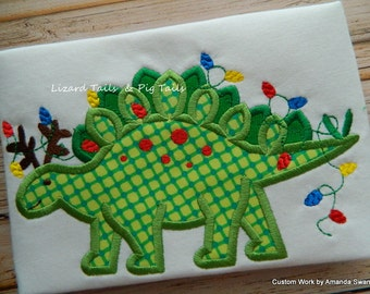 Christmas Dinosaur, Stegosaurus Christmas Lights, Dino Christmas