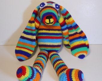Crocheted stuffed handmade Bunny rabbit amigurumi style