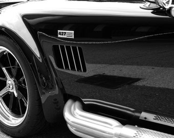 B&W vintage car photo 13