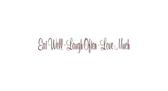 eat well laugh often love much wall decal vinyl wall decals. Black Bedroom Furniture Sets. Home Design Ideas