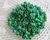 Mykonos Greek Ceramic Mini Tube Beads -MORE for LESS-30 speckled turquoise green 6X4mm Mykonos Beads Spring Sewing scrapbooking supplies Diy