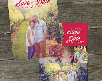 Summertime 5x7 Save the Date Photoshop Template