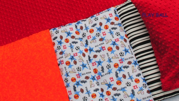 Play Ball boys nap mat by Janiebee One left