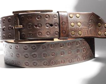 Men's Belt, Brown Belt, Quality Leather, Distressed Leather, Leather Gift for Him, Leather Belt with Buckle, Leather Belt, Crafted Belts