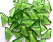 Lime Green Triangle Shaped Glass Mosaic Tiles//Mosaic//Mosaic Supplies//Crafts