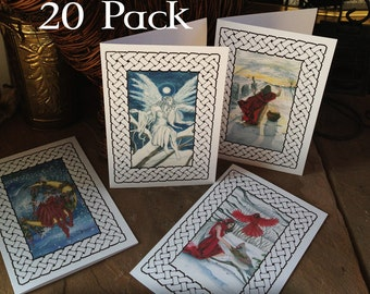 Yule Holiday Cards 20 pack