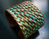 Entwined polymer clay cuff bracelet