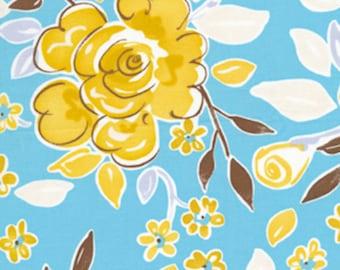 Blue Darjeeling Fabric by Free Spirit Fabrics- 1/2 yard