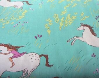 Michael Miller Summer Ride in Seafoam Cotton Fabric - 1 Yard