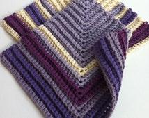 Crochet Dish Cloth Patterns THREE Instant Digital Downloads