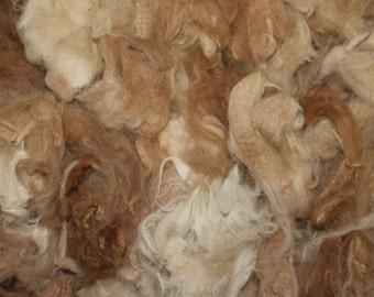 Variegated Fawn Alpaca Fleece