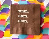 Chocolate Omm Nom Nom Napkins - 25ct. {Ready to Ship}