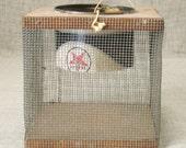 Basket , Antique Folk Art , Cricket Basket , Fishing Basket , Bait Basket , Folk Art Basket , Handmade Basket , Primitive , Primitive Basket
