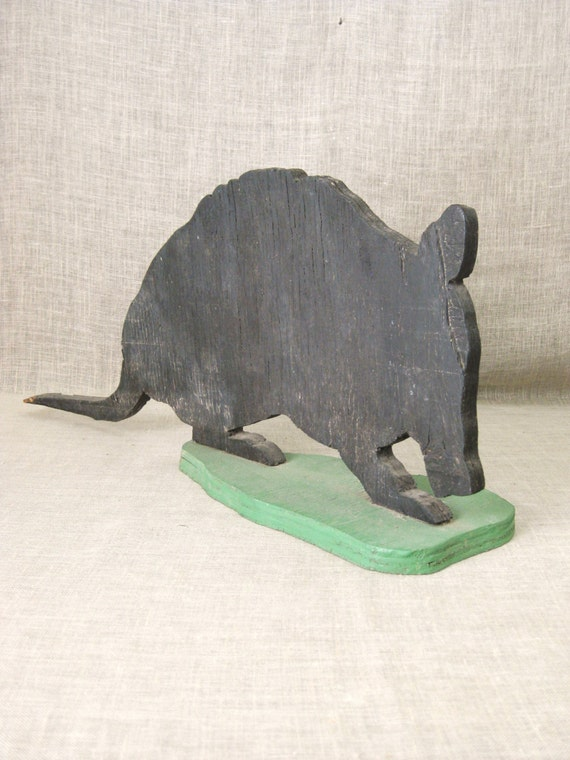 Folk Art Armadillo Folk Art Wood Cutout By Wilshepherd