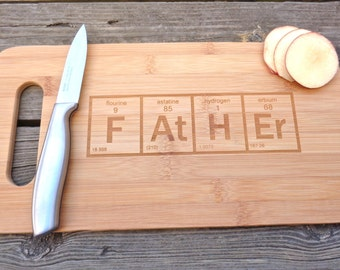 Periodic table board etsy father cutting board periodic element table cutting board engraved cutting board periodic element geekery gift urtaz Image collections