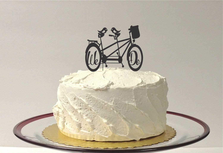 Bicycle Wedding Cake Topper Bike Cake by CreativeButterflyXOX