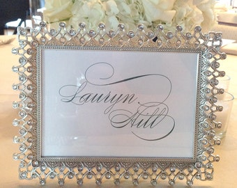 Custom Table Cards - Custom Table Numbers with Names - 5x7, Any Color with Your Custom Table Names, Events, Dates, Places