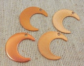 Simple Copper Washed Plated Crescent Moon Drop (8) Nature, Bohemian, Minimalist