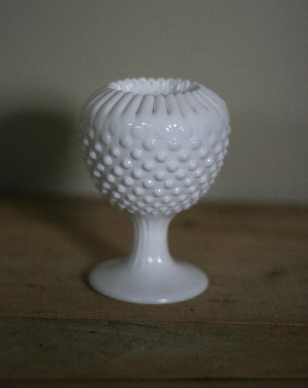 vintage milk glass hobnail vase. Black Bedroom Furniture Sets. Home Design Ideas