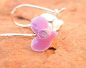 Girls Earrings.Heart Earrings Pink Earrings.Heart jewelry.love jewelry.under 40.girls gift.little girls gifts.small earrings.valentine day