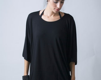 Loose Top Tunic / Oversized Blouse with Batwing Sleeves / Raglan Top / The Butterfly / Top Tunic - MB007