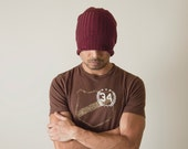 Hand Knit Mens Hat - Reflect Alpha