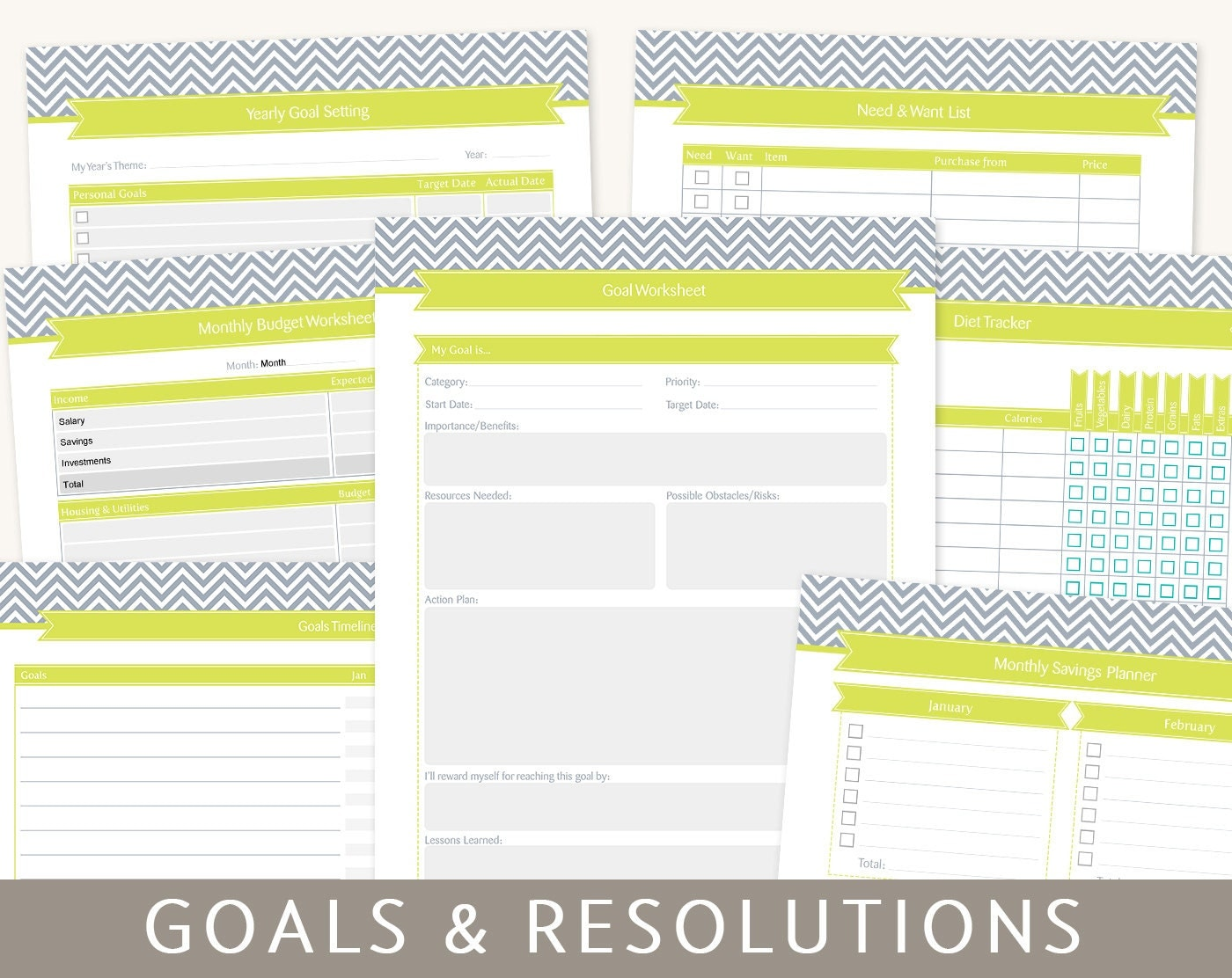 goals planner goal setting new year 39 s resolutions 9 by