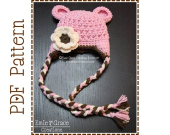 Bear Hat Crochet Pattern, 8 Sizes from Newborn to Adult, MONA and OTHELLO BEAR - pdf 117