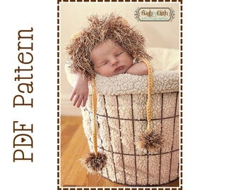 Crochet Lion Hat Pattern, 8 Sizes from Newborn to Adult, LIL' LION HEART - pdf 132