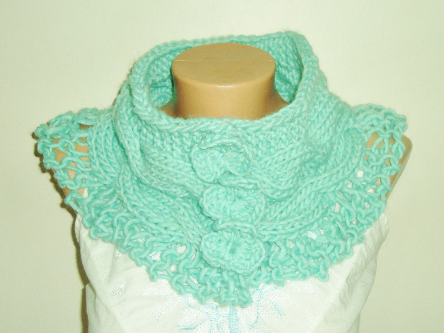 unique handmade scarves in mint scarf gift womens by