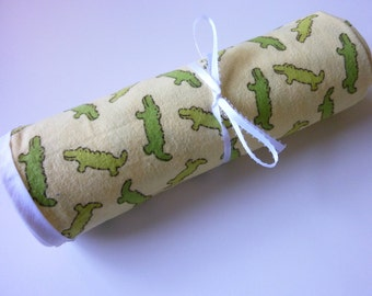Extra Large Swaddle Blanket - Crocodiles