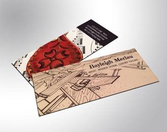 Slim Business Cards, Custom Design