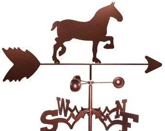 Hand Made Draft Horse Weathervane NEW