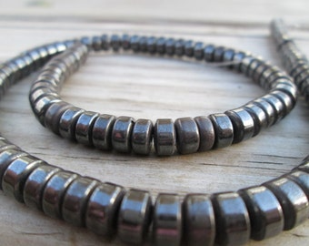 Hematite Heishi Beads 7x4mm Full Strand(Item Number E749CL)