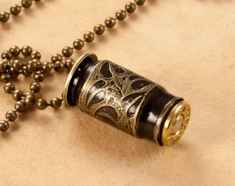 """Etched bullet time capsule - """"Ivy"""" - bullet jewelry"""