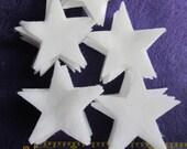 2 Inch White Felt Stars - 50 Die Cut Felt Stars-Celestial Star Shapes-DIY Felt Star Kit-Star Shape Felt