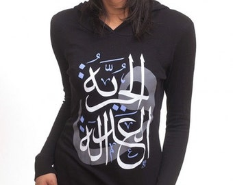 Women's Freedom and Justice hoodie in black