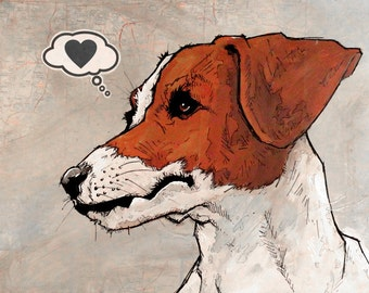 Jack Russell - 8x10 Art Print - Love - Dog