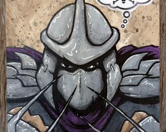 "The Shredder - 11x14 Original Painting- ""Splinter in My Mind"" - Teenage Mutant Ninja Turtles"