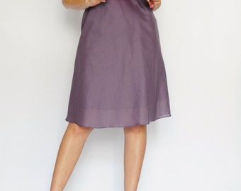 Too.... Purple Pink Two layer Cotton Dress