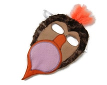 Dodo Bird Mask,  Dress Up, Animal Birthday Party Favor, Children's Halloween Costume, Adult Mask