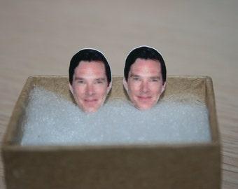 Benedict Cumberbatch Post Stud Earrings Celebrity Jewelry