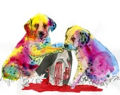 Dalmation Decapitation original piece by Future Colors of America