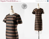 70% OFF - LAST DAY // 1960s dress large / 60s striped shift dress : Ready to Roll