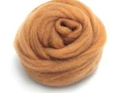 10g Super Fast felting Short Fiber Wool Perfect in Needle Felt Amber V606