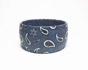 Bandana Print Bangle Bracelet, Western design bracelet, Gifts for Cowgirls,
