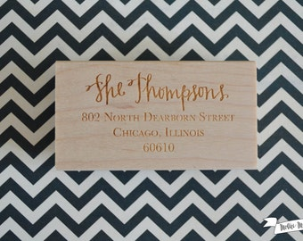 Custom Personalized Address Rubber Stamp
