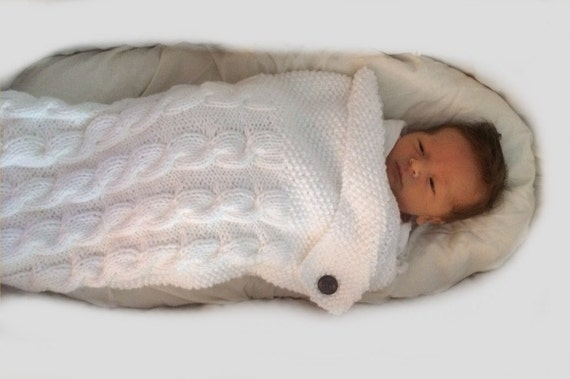 Knitting Pattern Swaddle Me Baby Blanket Pdf Knitting Pattern