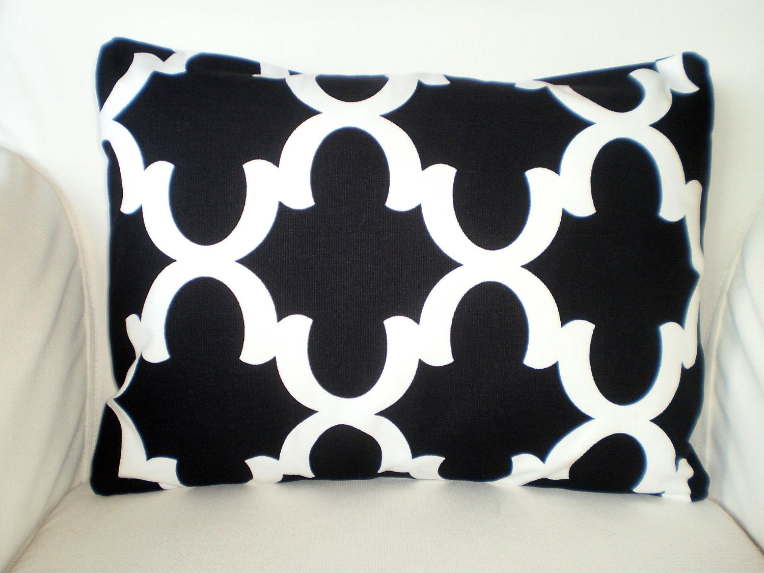 black white lumbar pillow cover throw pillow decorative. Black Bedroom Furniture Sets. Home Design Ideas